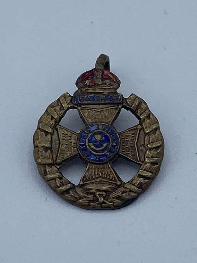 WW1 Rifle Brigade Sweetheart Badge Brooch Brass And Enamel