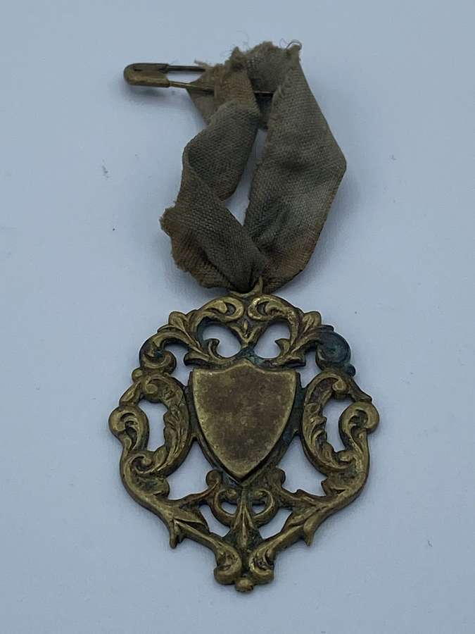 Victorian Brass Art nouveau Medal English Made