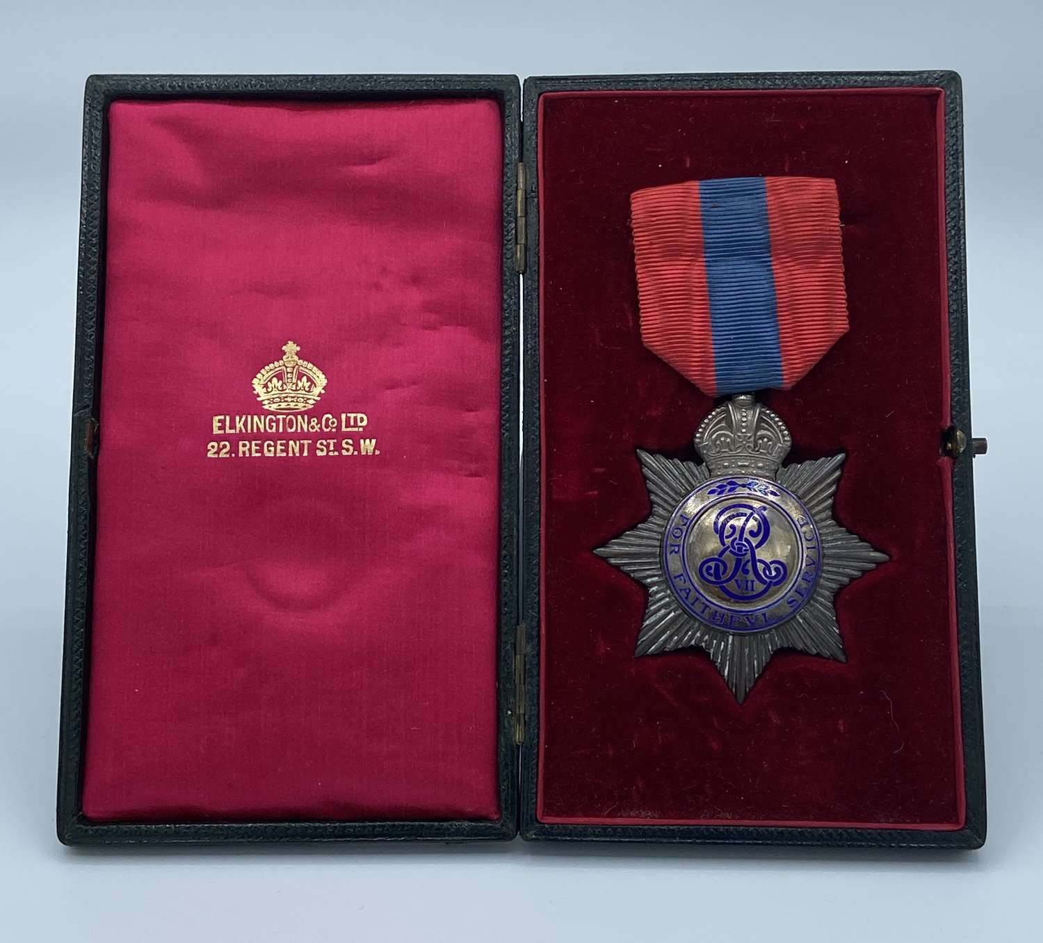1902 Edward VII Imperial Service Order Medal & Box To William H Woods