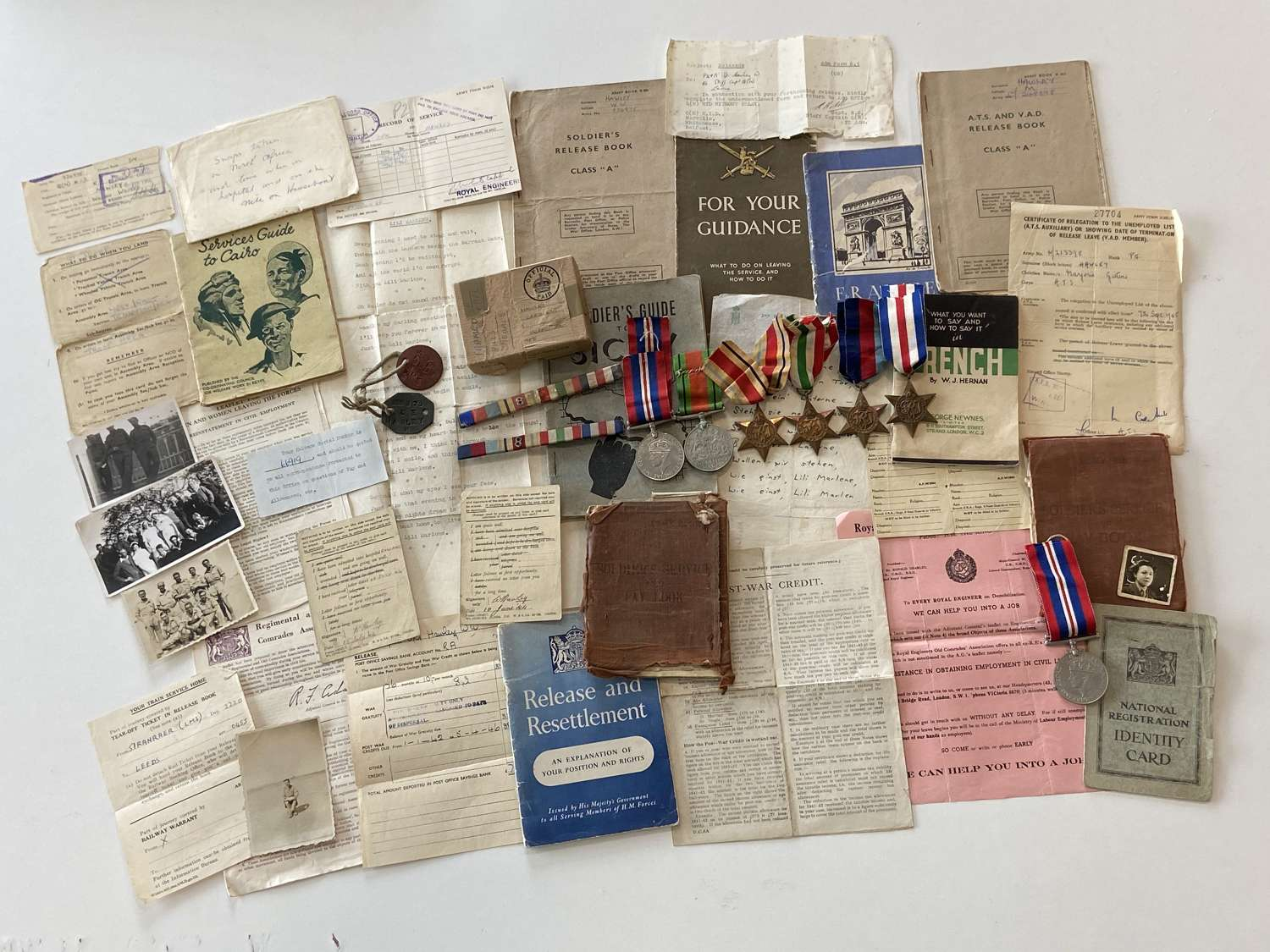 WW2 Hawley D-Day Medal Group, Landing Orders Gold Beach, East York's