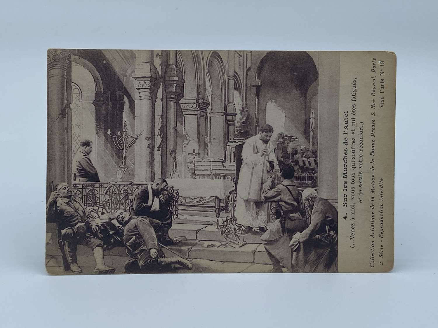 WW2 22nd October 1945 'On The Steps Of The Alter' Post Card