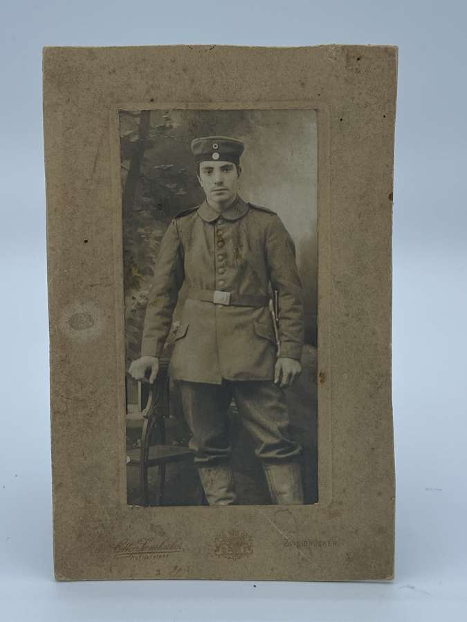WW1 German Soldier Portrait Photograph