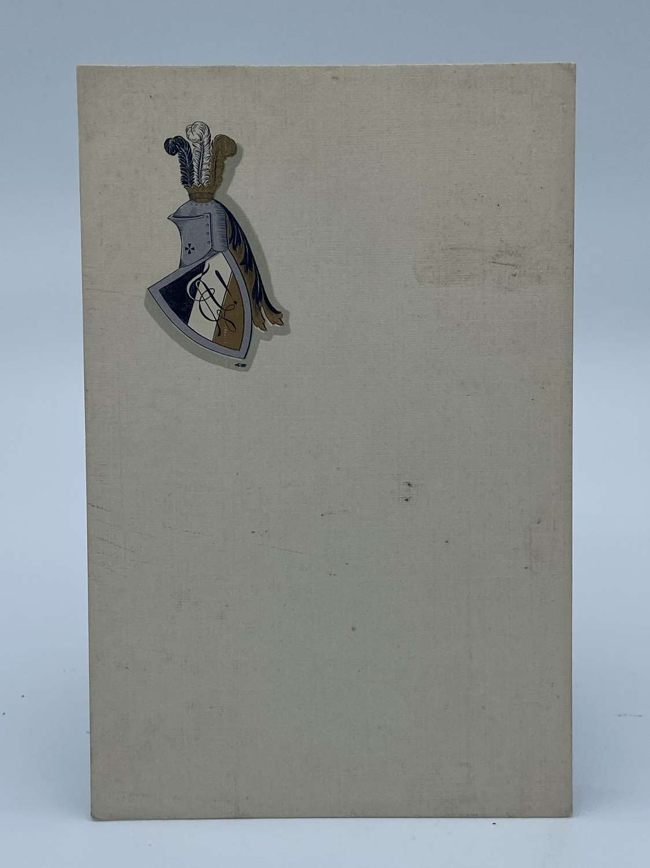WW1 German Royal Family Crest Blank Postcard