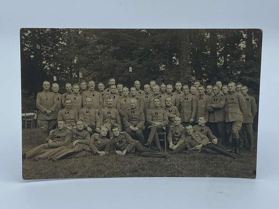 Rare WW1 German Regiment With All 41 German Soldiers Named On Reverse