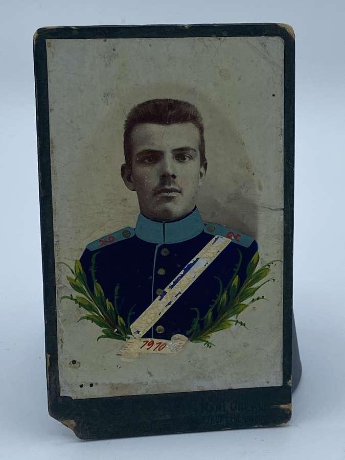 Rare WW1 2nd Bavarian Artillery Regiment Painted Photograph CDV