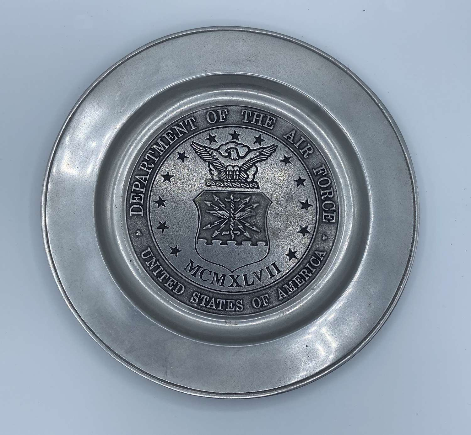 Department Of The Air Force USA Pewter Plate