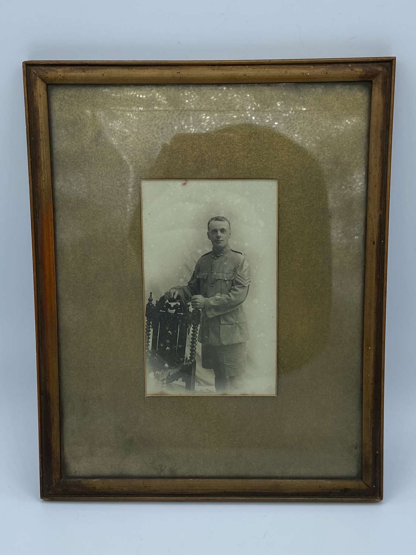 Ww1 Sergeant Royal Marines Tropical Uniform Photograph In Frame