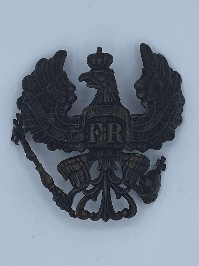 WW1 German Pickelhaube M1860 Wappen Front Plate
