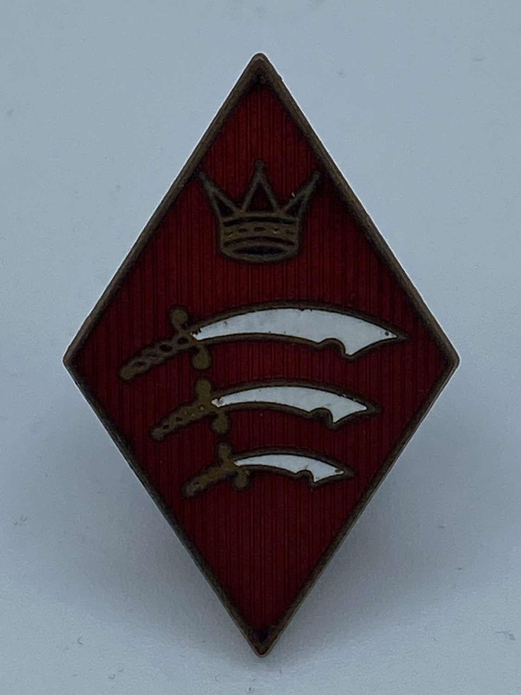 Antique Vintage Essex Constabulary Enamel Diamond Badge