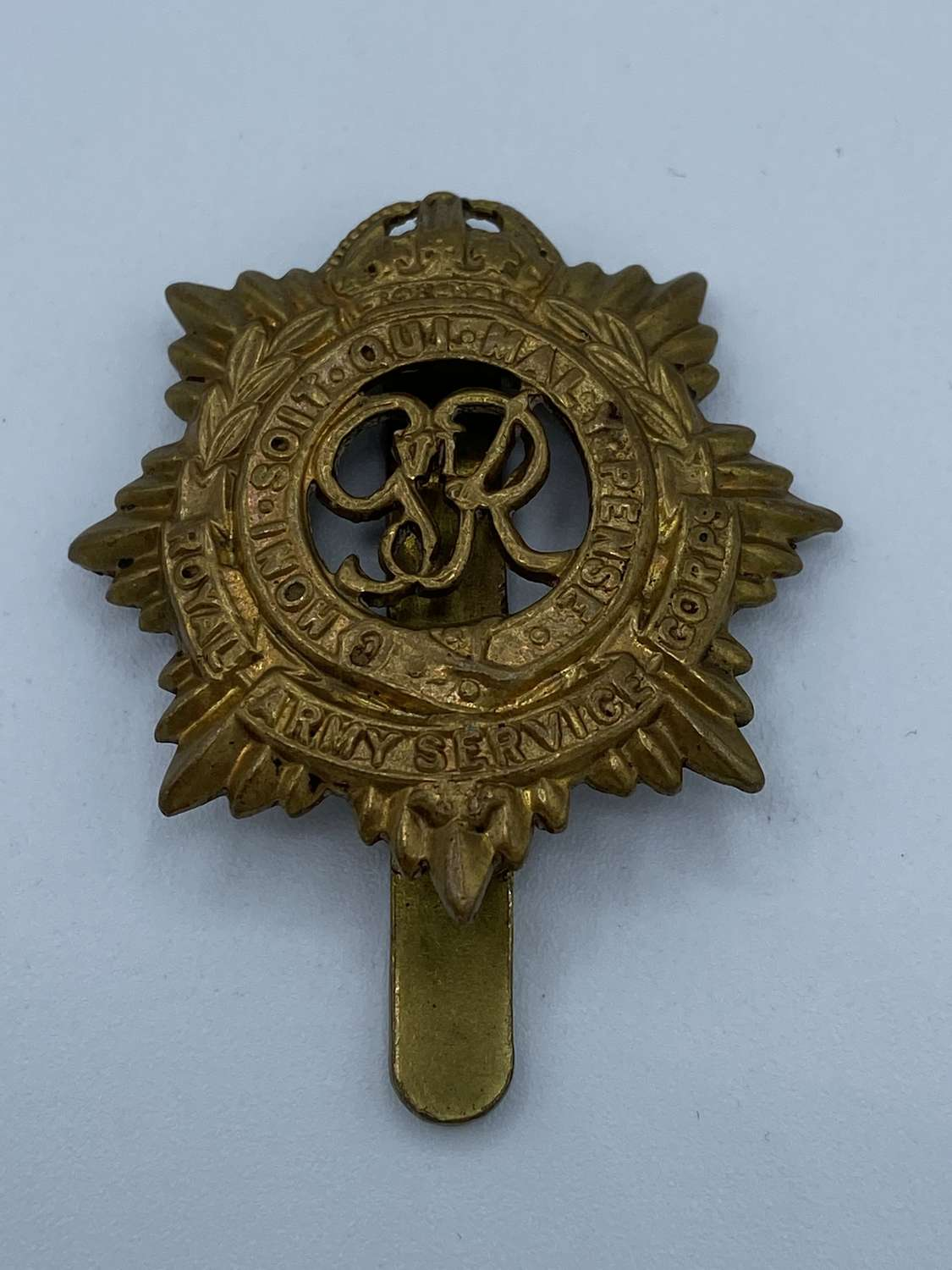 WW2 Royal Army Service Corps Slider Cap Badge