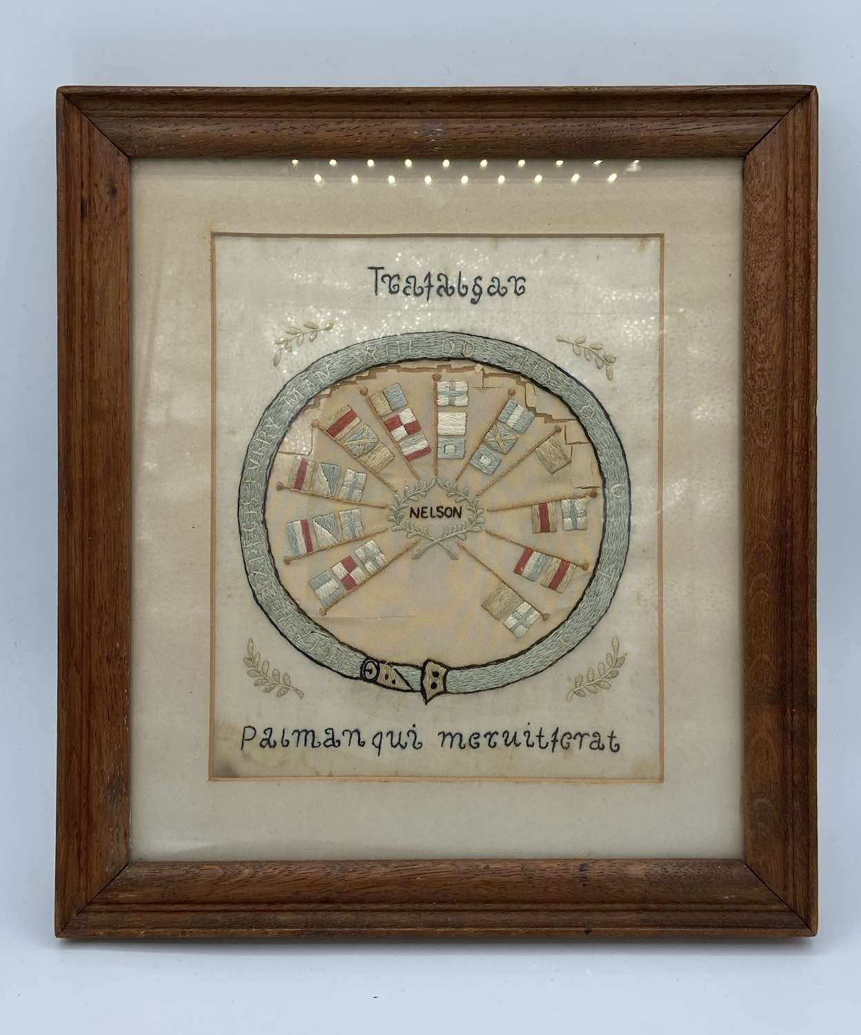 1805 Battle Of Trafalgar Nelsons Flag Ship Sampler