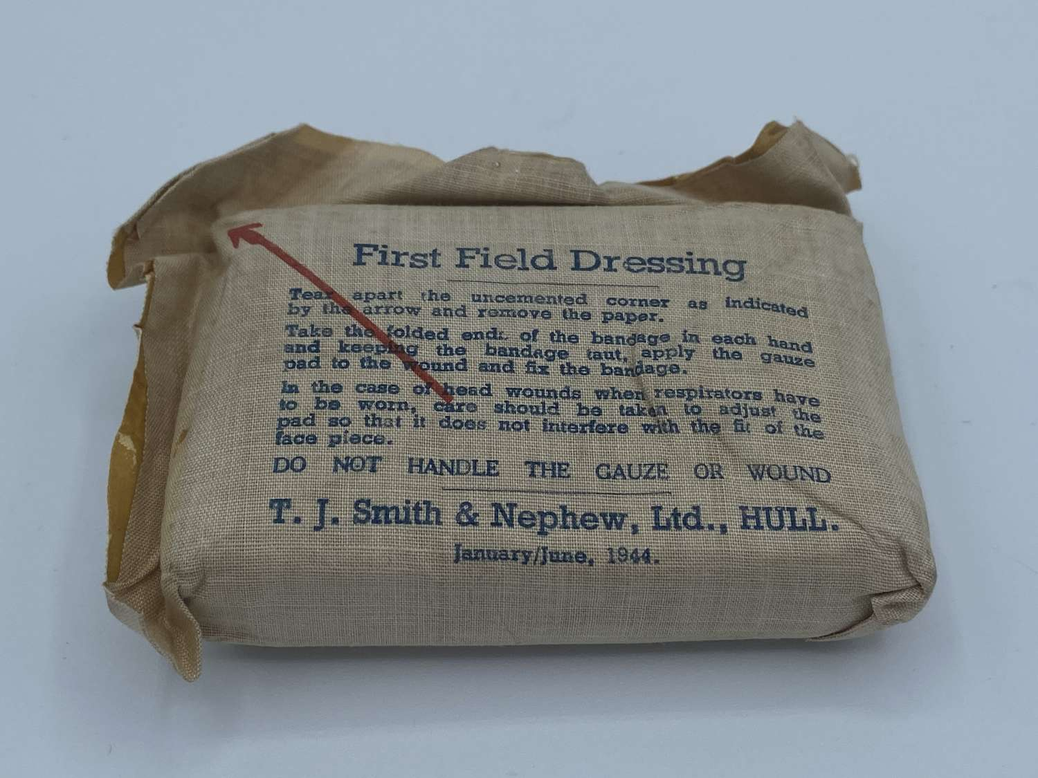 WW2 January 1944 Field First Aid Dressing Unopened