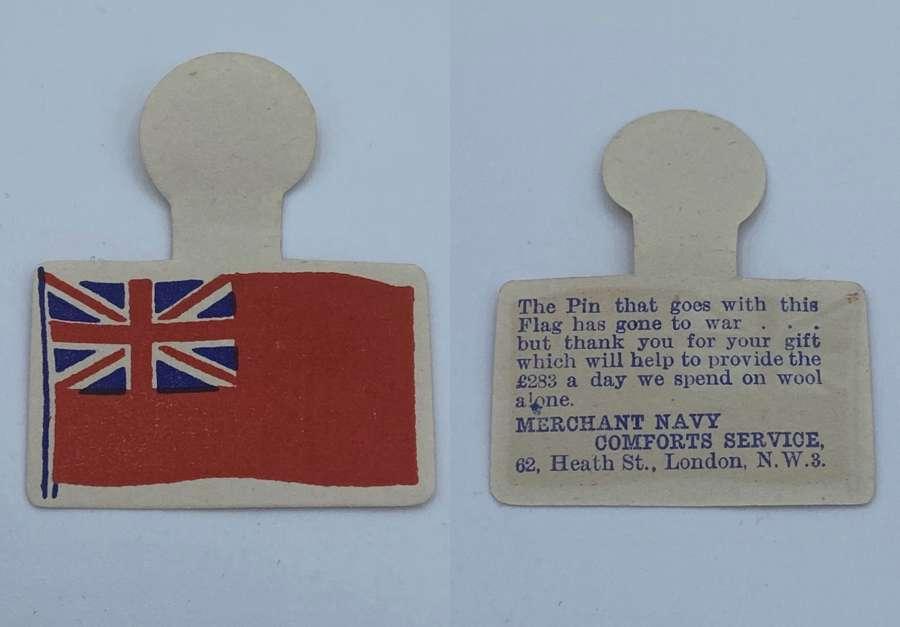 WW1 Merchant Navy Donation Paper Pin