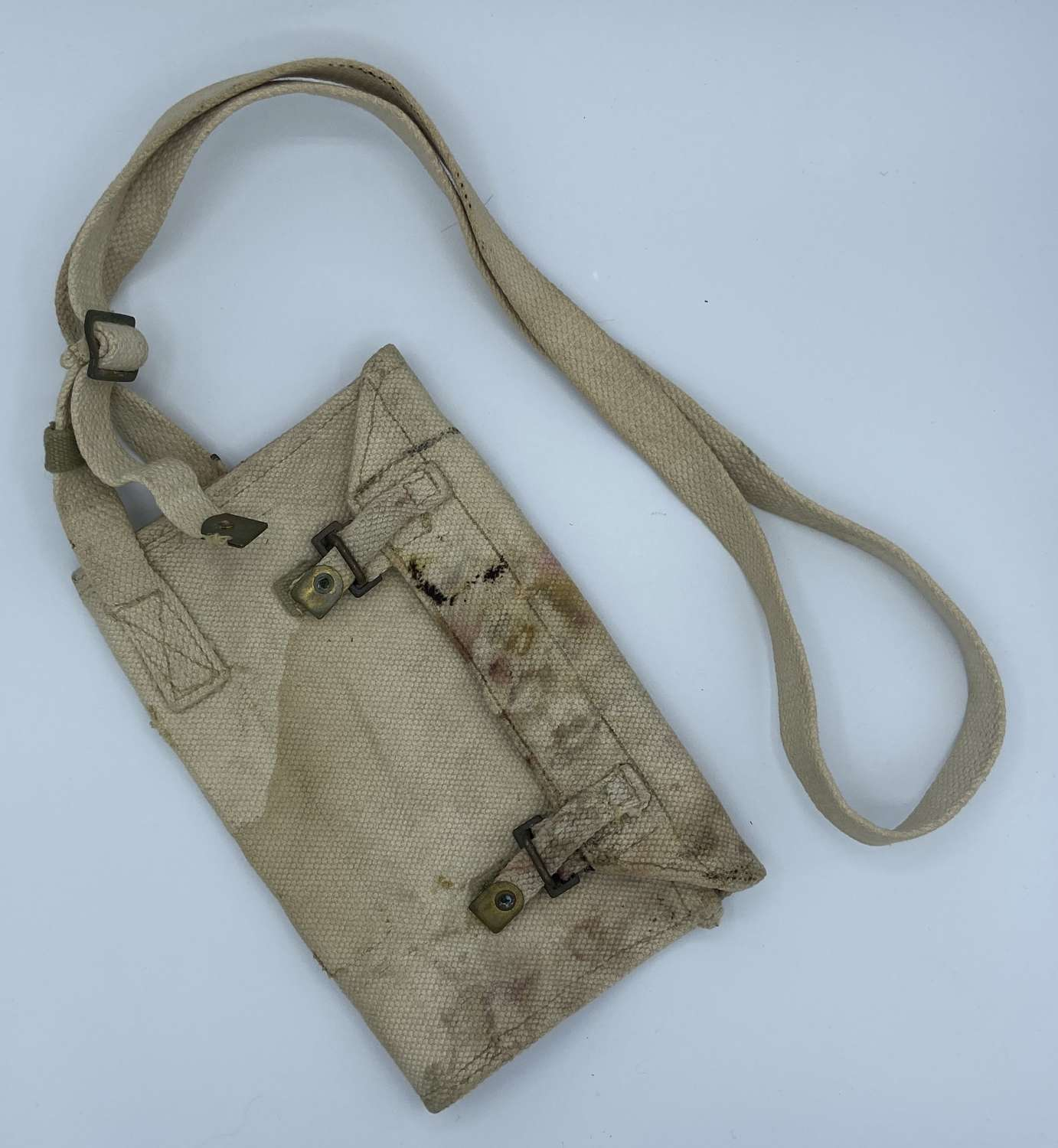 Adapted Ww2 1944 Date British Army Bren Tool Roll Wallet & Long Strap