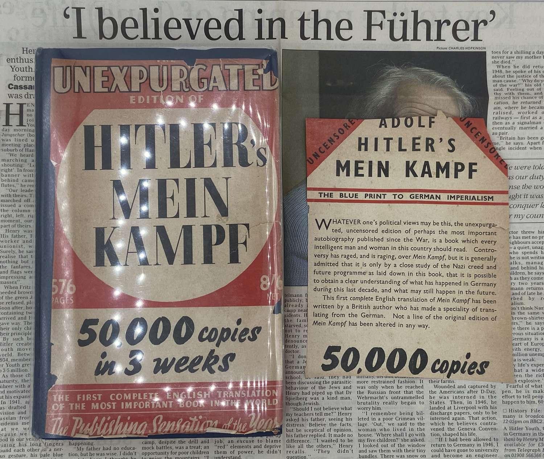 Unexpurgated Edition Of Hitlers Mein Kampf 1939 Hurst & Blackett