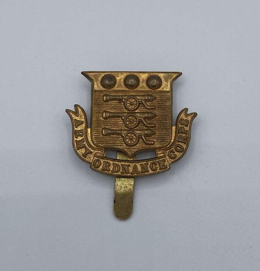 WW2 Army Ordnance Corps Slider Cap Badge