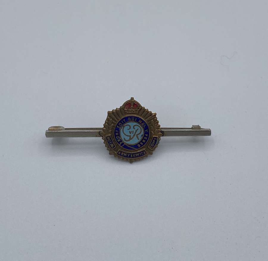 WW2 Royal Army Service Corps Tie Pin Brass And Enamel