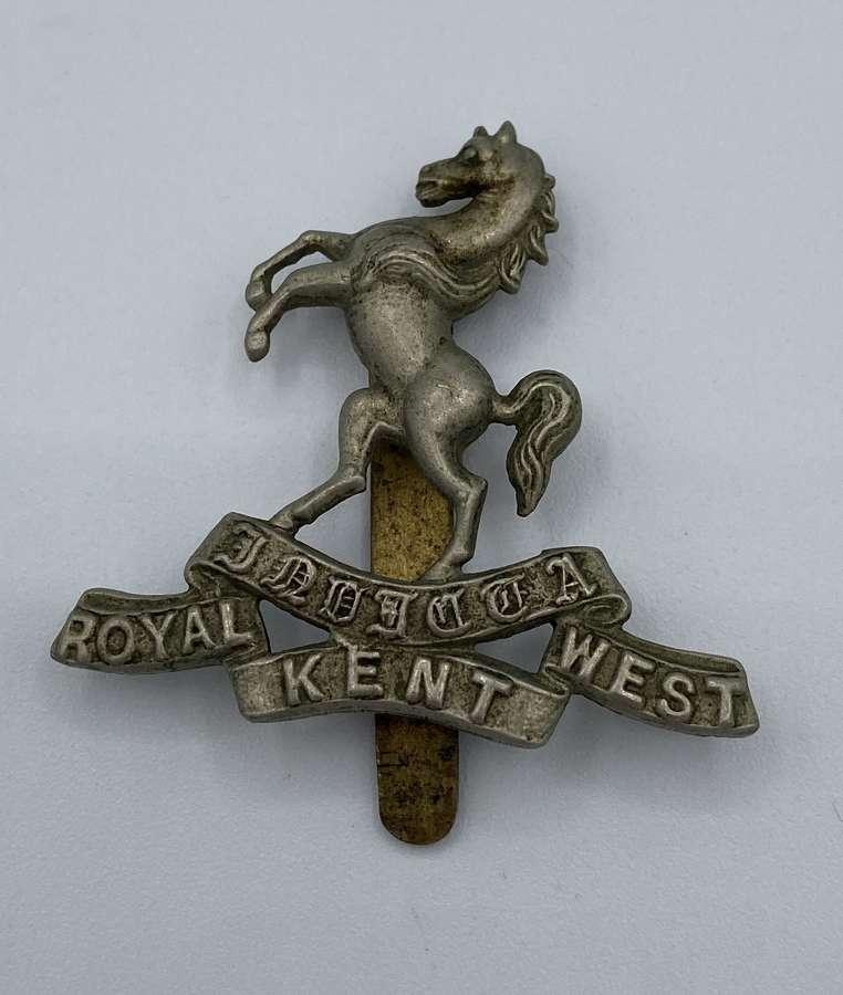 WW2 Royal Kent West Slider Cap Badge