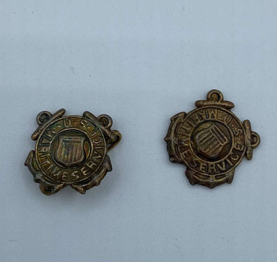 Two X WW2 Maritime Service Badges