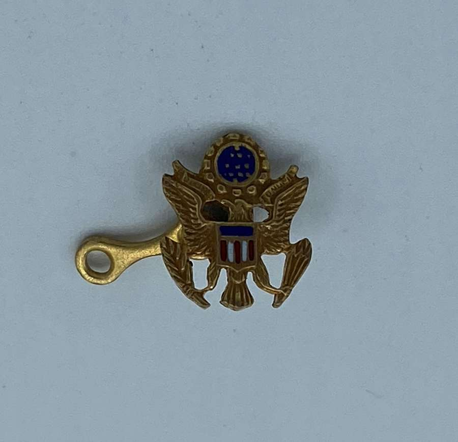 Antique Gold Tone And Enamel Presidential Small Badge