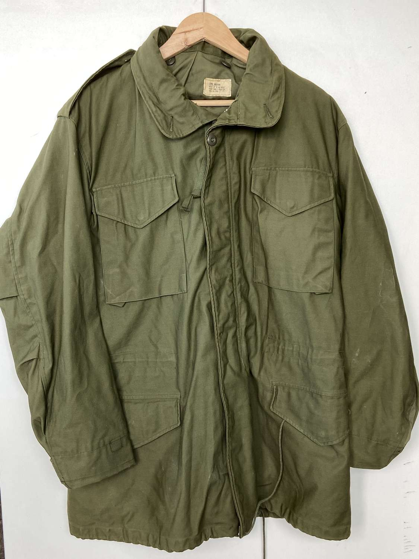 M-65 Field Coat With Hood Medium Sized Nylon Cotton Vietnam era