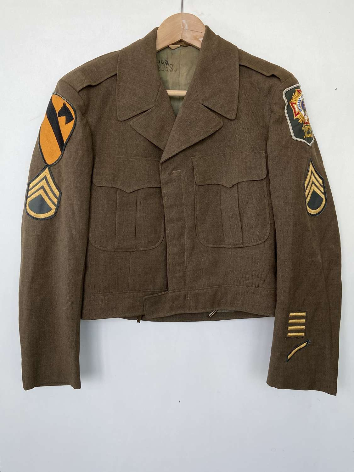 Post WW2 M-1950 United States Army 1st Cavalry Wool Jacket