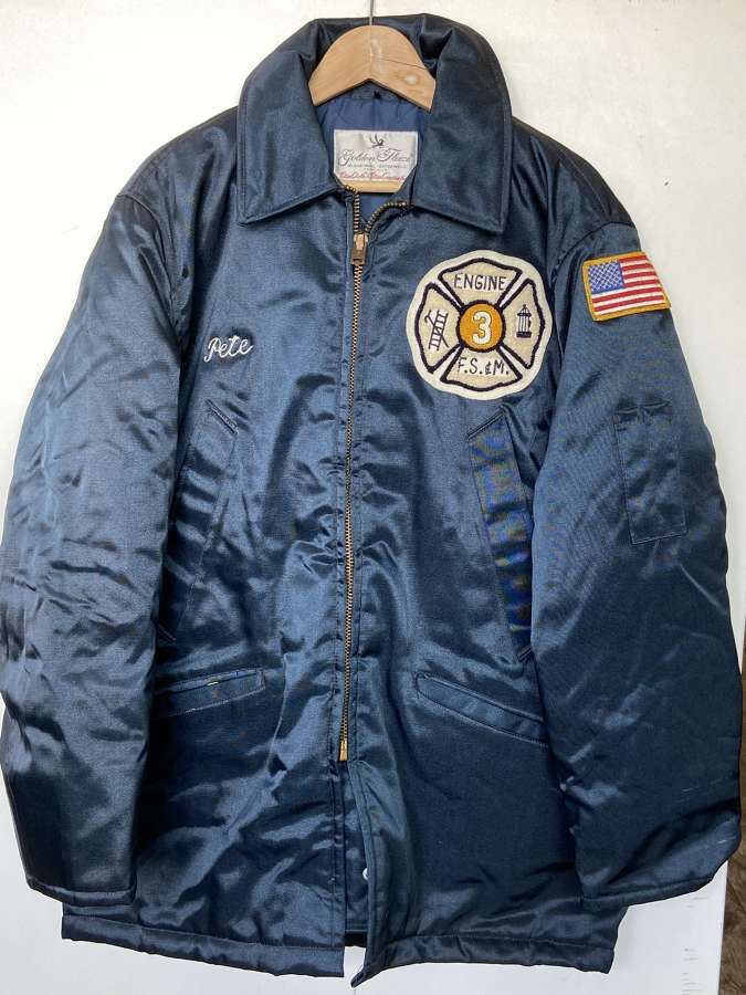 Vintage NYFD Industrial Jacket Fire Engine 3 Size 46 Golden Fleece