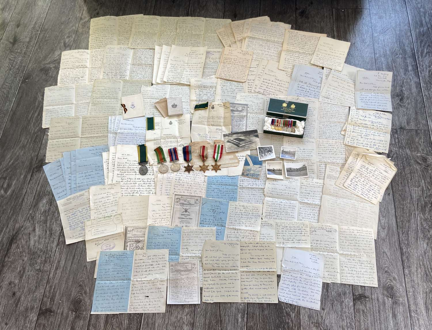 WW2 Medal paperwork Group Major AR Rees RSLI Diary Of Tunisia Campaign