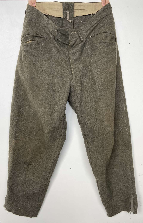 Original WW2 Swiss Switzerland Wool Trousers 1940 Dated Sized 104