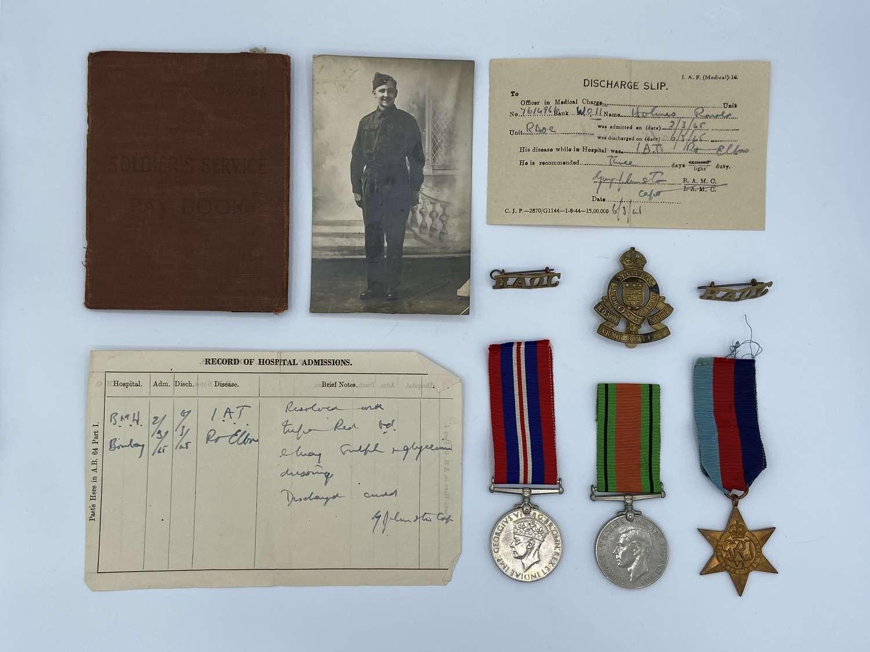 WW2 RAOC Medal Group To Squadron Quatermaster Sergeant C R W Holmes