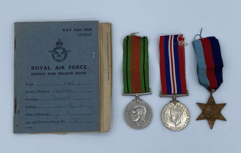 WW2 RAF Medal Group To 1245083 LAC W G H Pickett RAF Broadwell D-Day