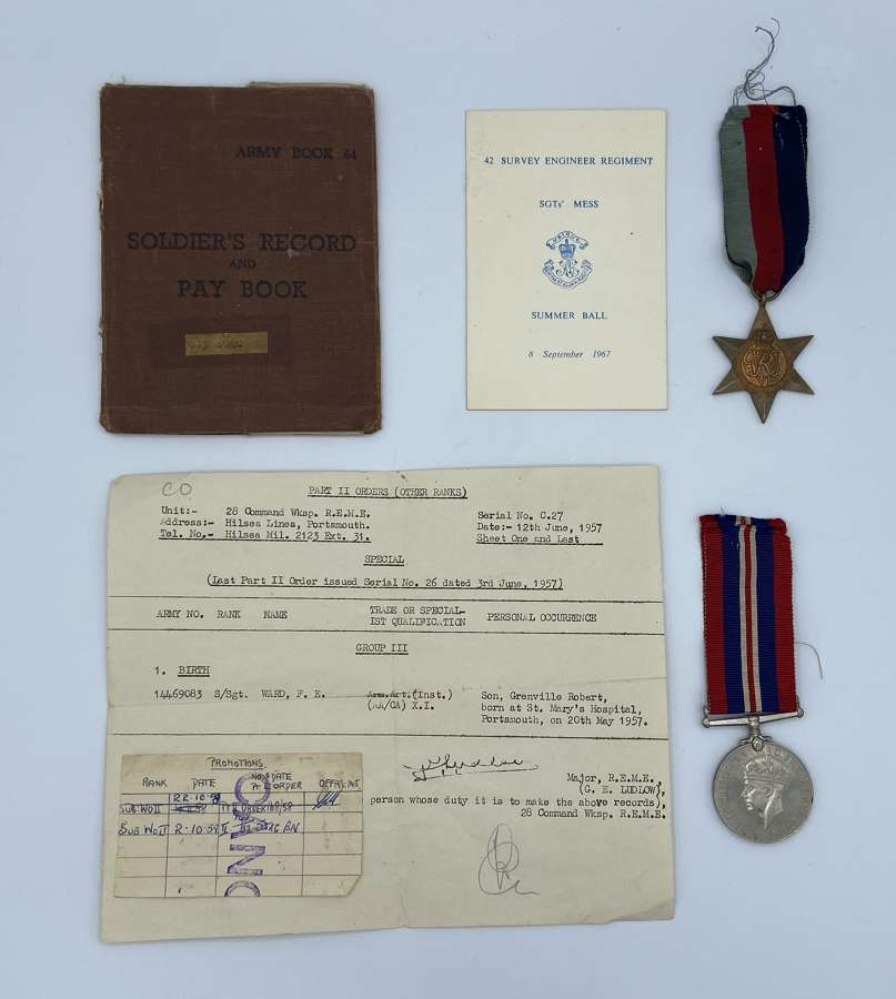 WW2 REME Medal Group Frank Edward Ward Entitled To GSM Medal