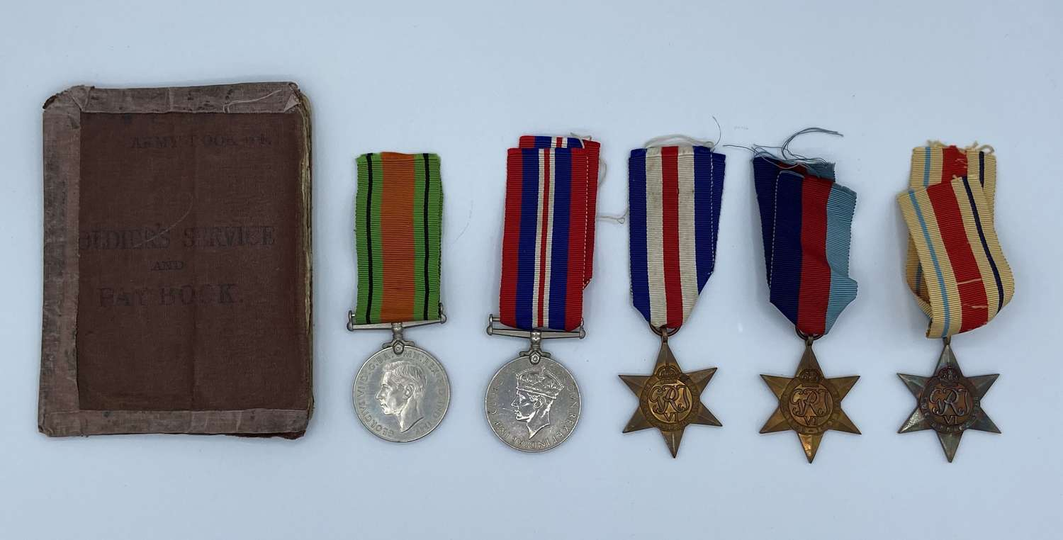 WW2 Medal Group To 2986164 John Newton Territorial Army