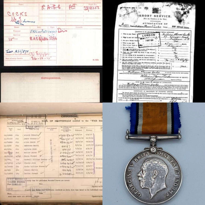 WW1 BWM Pte C Almond 8th East York Reg & Lancashire Fusiliers