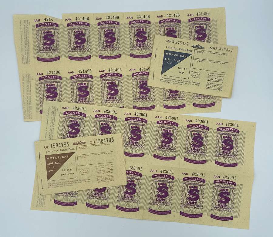 WW2 Home Front Fuel Rations And Stamp Sheet Lot