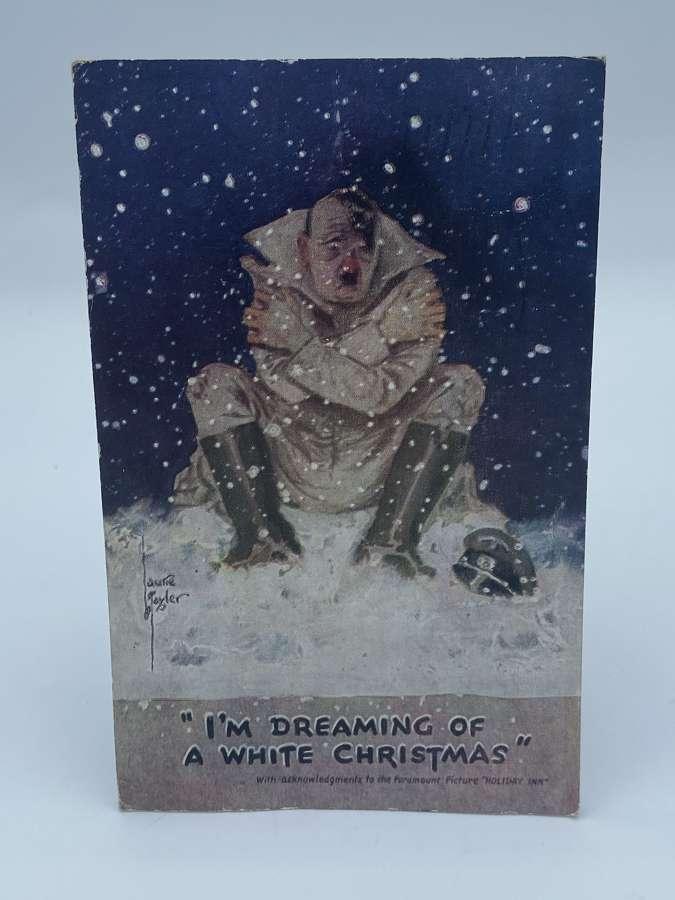 "Ww2 1944 British Propaganda Post Card ""dreaming Of A White Christmas"