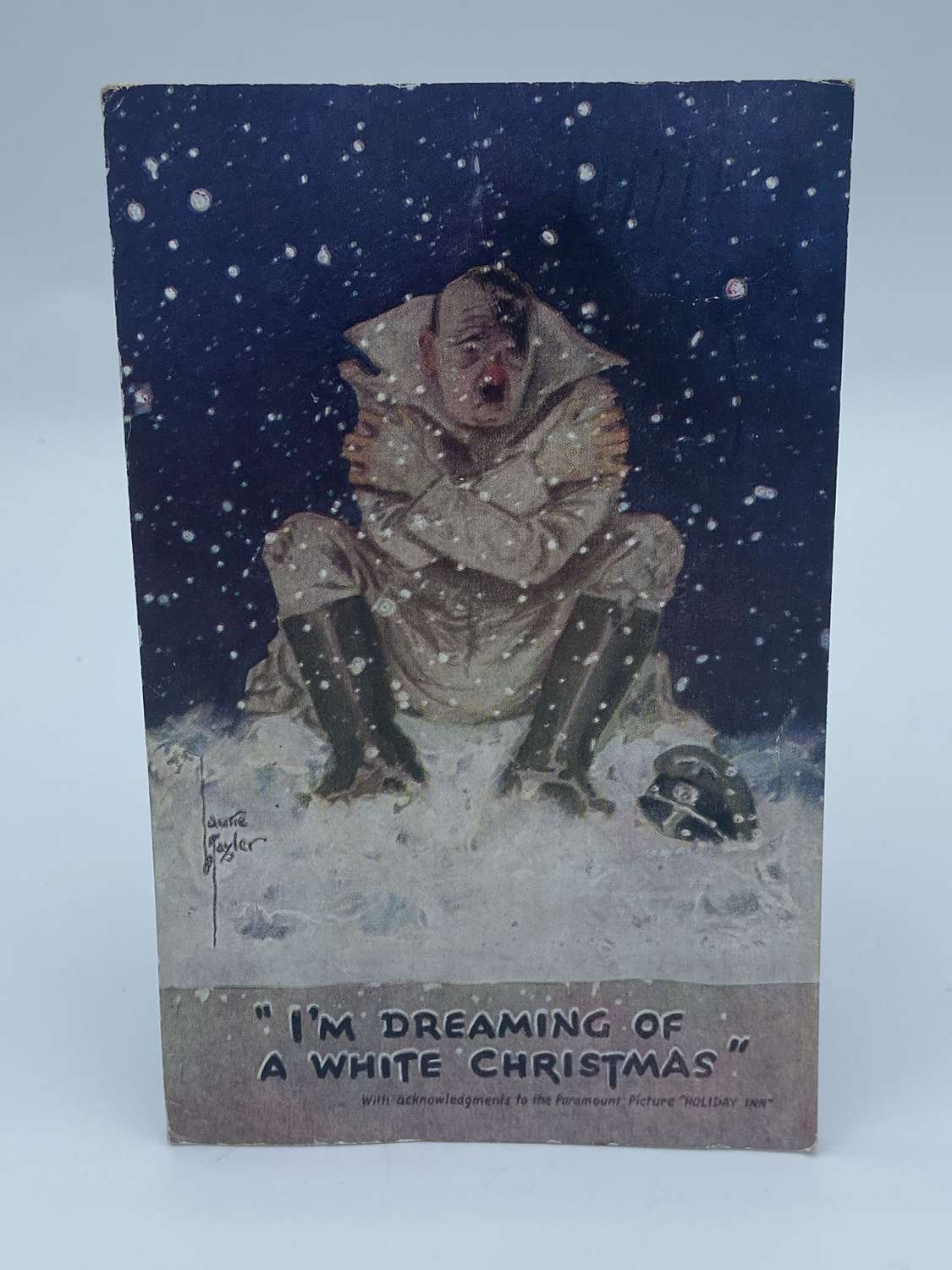"Ww2 1944 British Propaganda Post Card ""dreaming Of A White Christmas"