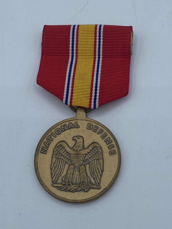 Vintage Post War U.S Army National Defence Medal 1917 Maker Marked
