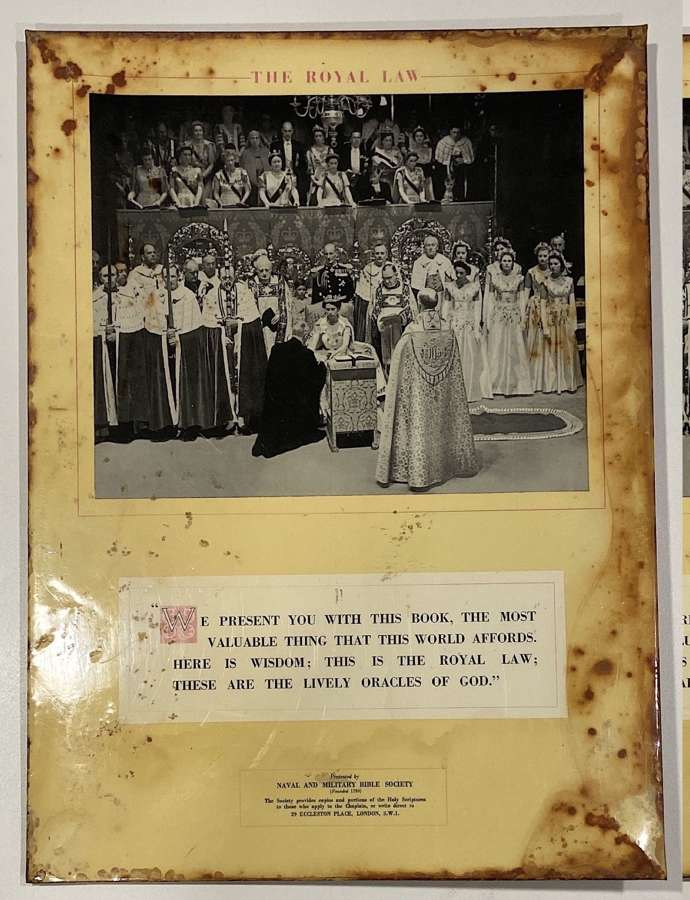The Royal Law Queen Elizabeth II Tin Poster Military Bible School