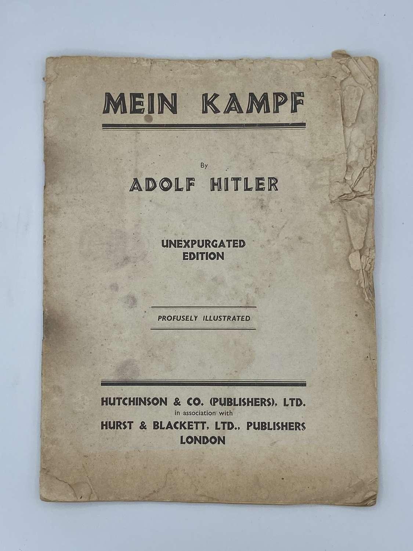 WW2 British Translation Mein Kampf Hutchinson & co hurst & Blackett