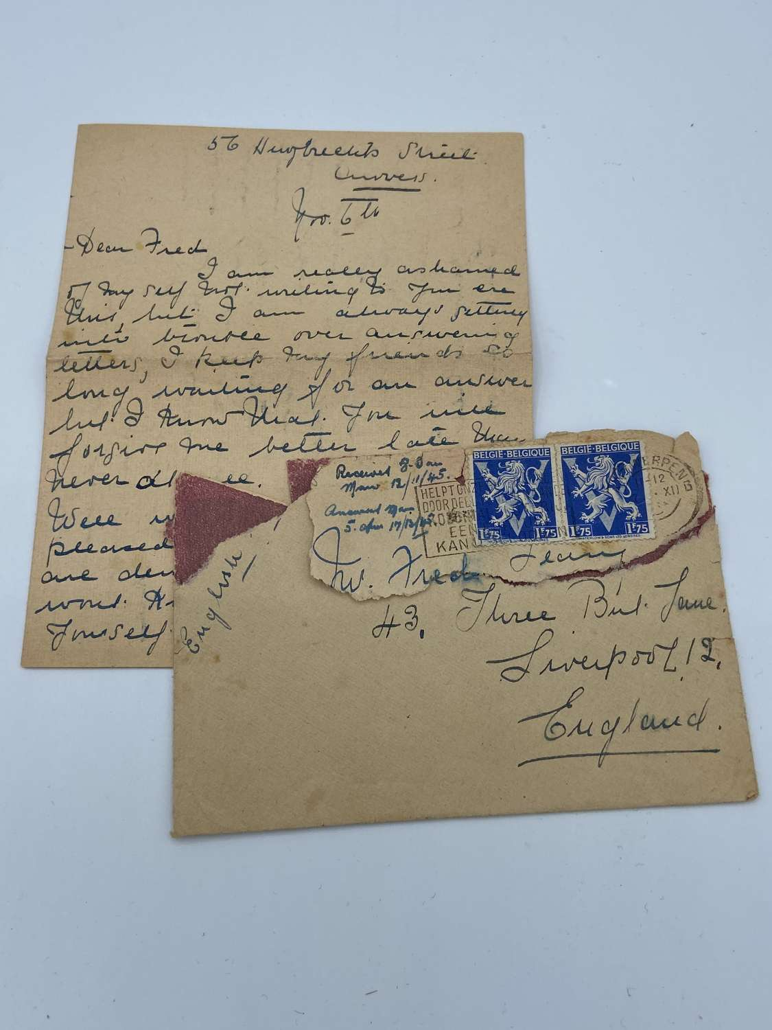 WW2 British Army Letter Home As A German Prisoner Of War