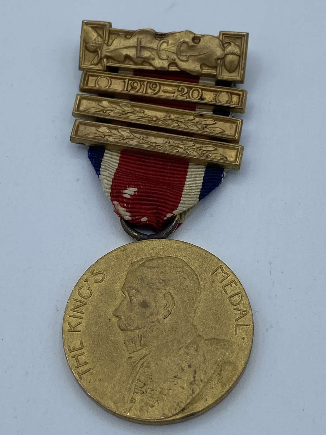 Ww1 London County Council The Kings Medal To C Greendland 4 Clasps