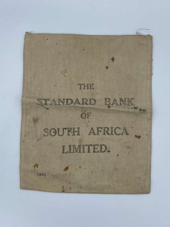 WW2 The Standard Bank Of South Africa Limited 1941 Money Bag
