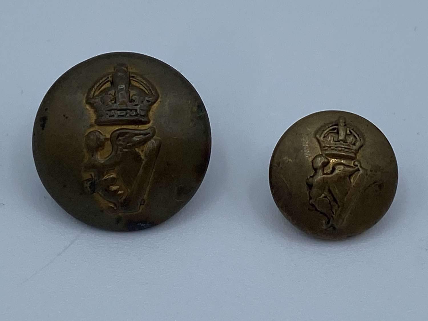 Pair Of WW1 Tunic Royal Irish Regiment Buttons Firmins & Sons London