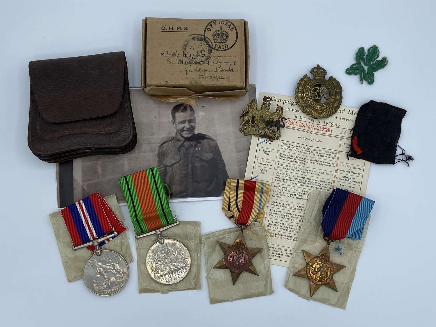 WW2 Royal Engineers Sergeants Medal Group To W Hicks From Brighton