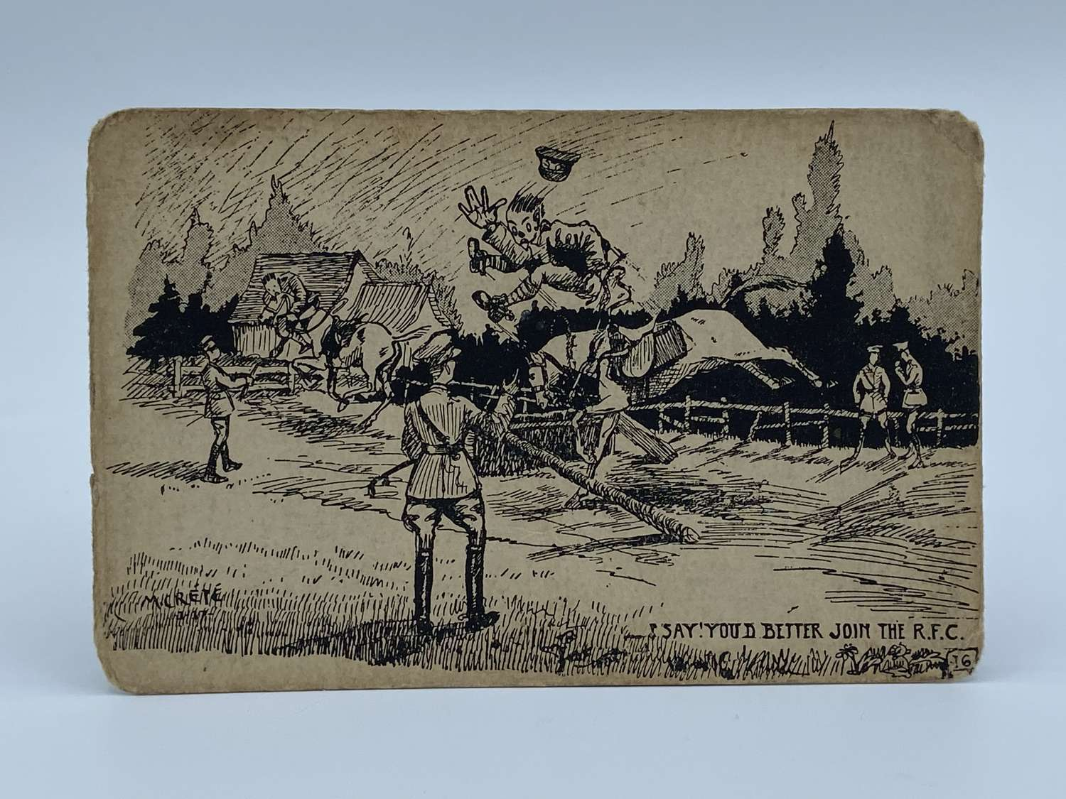 "WW1 Royal Flying Corps ""Youd Better Join The RFC"" French Post Card"