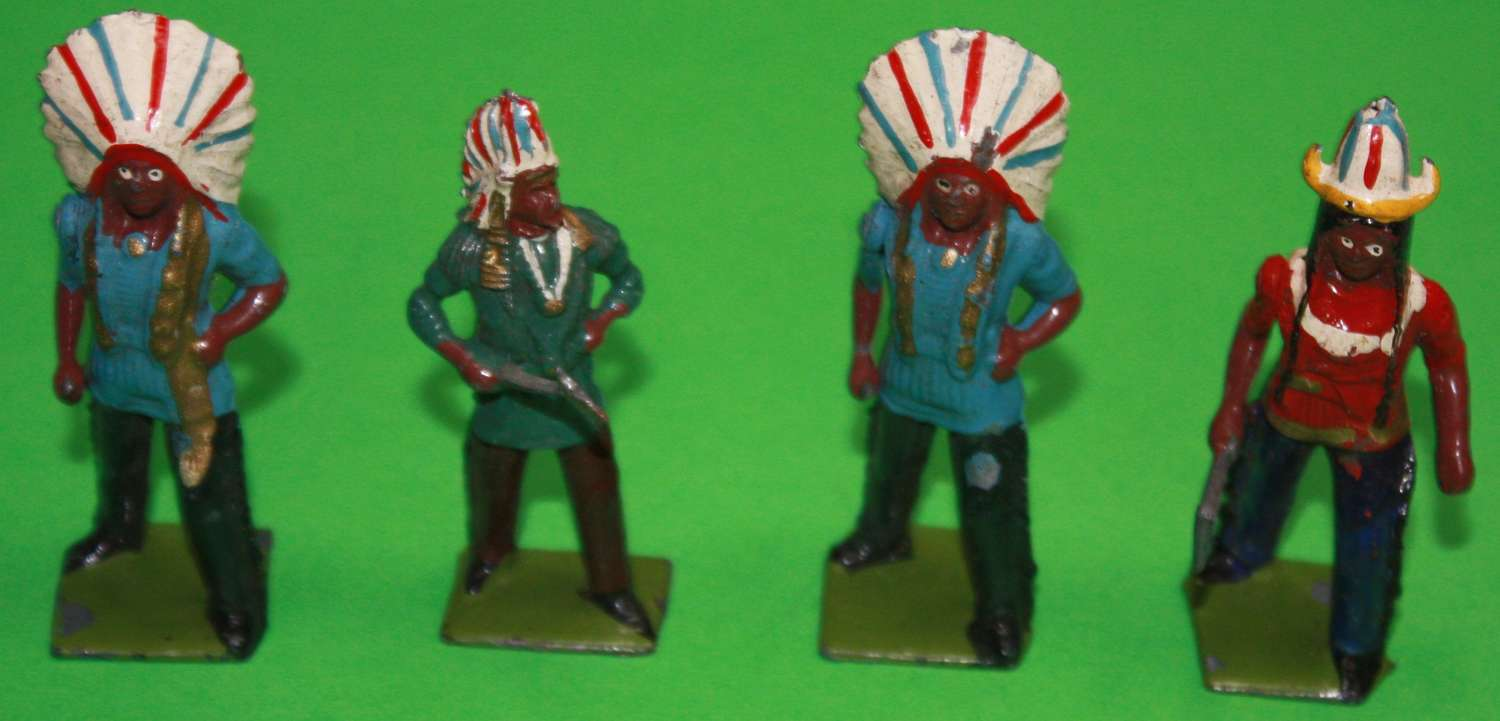 A good selection of BRITAIN'S lead toy Indians