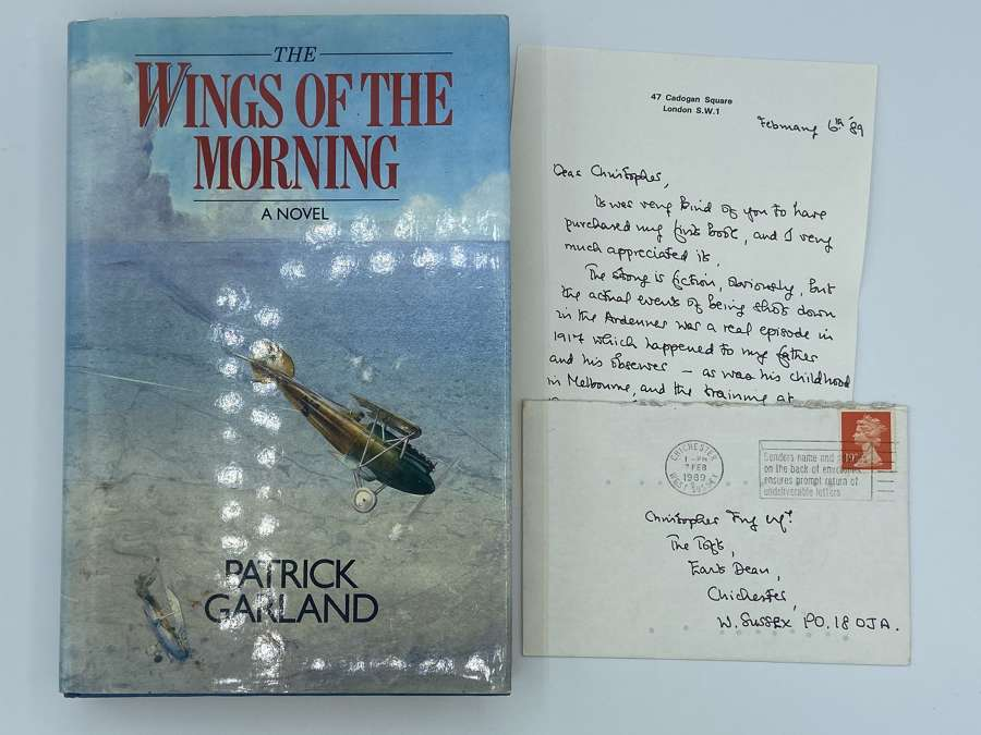WW1 Wings Of The Morning By Patrick Garland Signed 1st Edition 1989