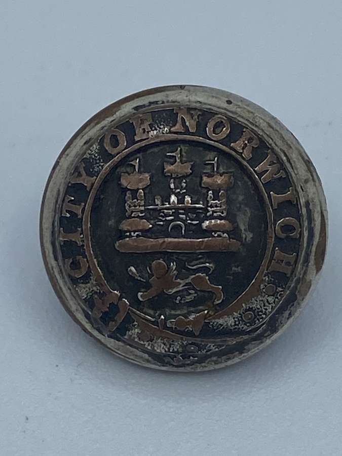 Antique Silver Plated City Of Norwich Button Army & Navy Co Asylum