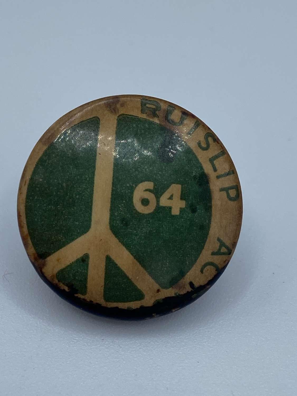 Rare Vintage 1964 Ruislip Action CND Campaign Pin Badge